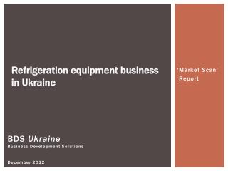BDS  Ukraine Business Development Solutions December 2012