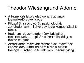 Theodor Wiesengrund-Adorno