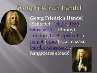 G eorg Friedrich Händel