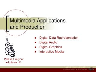 Multimedia Applications and Production