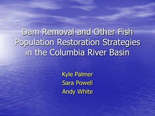 Dam Removal and Other Fish Population Restoration Strategies in the Columbia River Basin