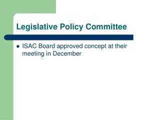 Legislative Policy Committee