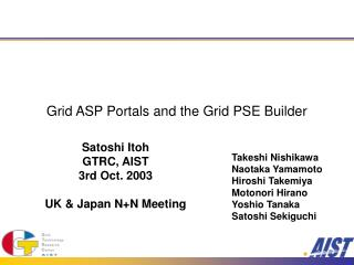 Grid ASP Portals and the Grid PSE Builder