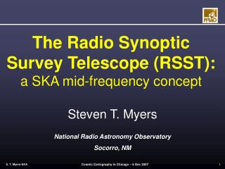 The Radio Synoptic Survey Telescope (RSST): a SKA mid-frequency concept