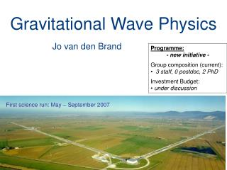 Gravitational Wave Physics