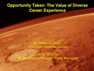 Opportunity Taken: The Value of Diverse Career Experience