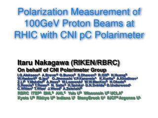 Polarization Measurement of 100GeV Proton Beams at RHIC with CNI pC Polarimeter