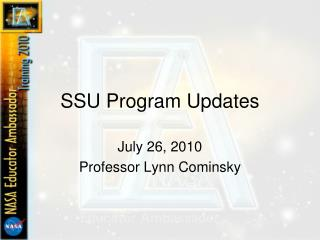 SSU Program Updates