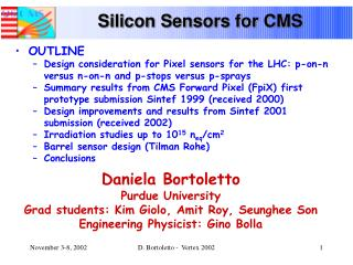 Silicon Sensors for CMS