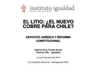 EL LITIO: ¿EL NUEVO COBRE PARA CHILE? ESTATUTO JURÍDICO Y REFORMA CONSTITUCIONAL