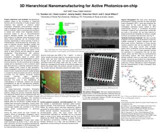 3D Hierarchical Nanomanufacturing for Active Photonics-on-chip