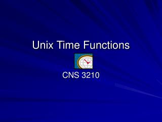Unix Time Functions