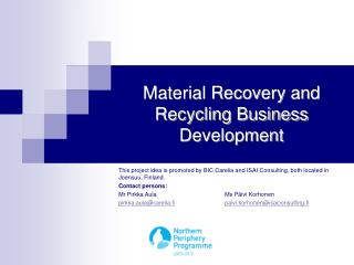 Material Recovery and Recycling Business Development