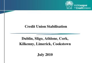Credit Union Stabilisation