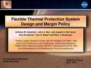 Flexible Thermal Protection System Design and Margin Policy