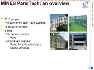 MINES ParisTech: an overview