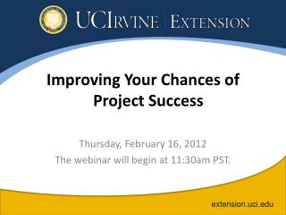 Improving Your Chances of Project Success