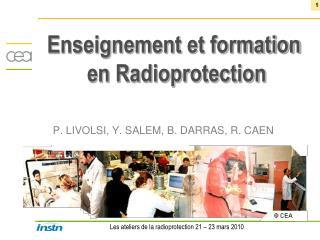 Enseignement  et formation  en Radioprotection