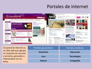 Portales de Internet