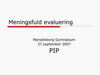 Meningsfuld evaluering
