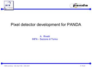 Pixel detector development for PANDA