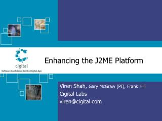 Enhancing the J2ME Platform