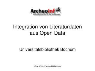 Integration von Literaturdaten aus Open Data