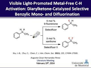 Xia, J.-B.;  Zhu, C.;  Chen, C.  J. Am. Chem. Soc.  2013,  135 , 17494-17500.