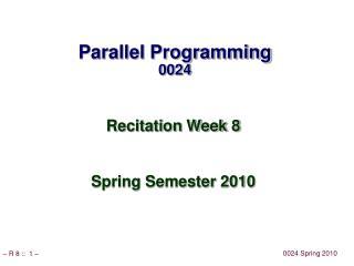 Parallel Programming 0024
