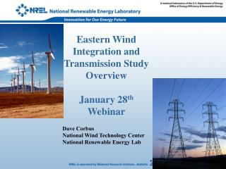 Eastern Wind Integration and Transmission Study Overview January 28 th  Webinar