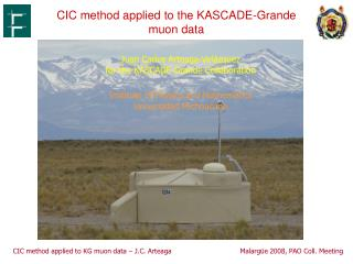 CIC method applied to the KASCADE-Grande muon data