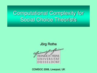 Computational Complexity for Social Choice Theorists