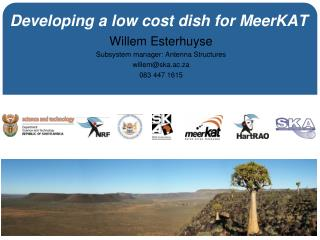 Developing a low cost dish for MeerKAT