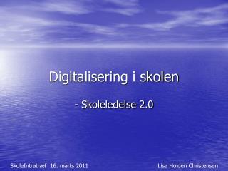 Digitalisering i skolen
