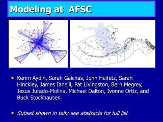 Modeling at  AFSC