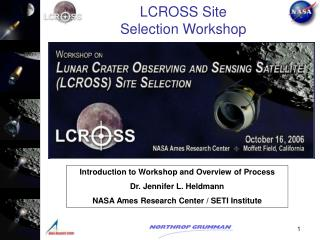 LCROSS Site Selection Workshop