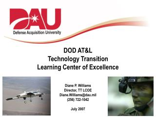 DOD AT&L Technology Transition  Learning Center of Excellence