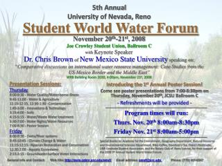 Student World Water Forum