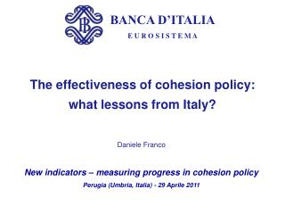 The effectiveness of cohesion policy:  what lessons from Italy?