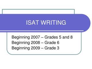 ISAT WRITING