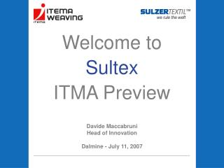 Welcome to  Sultex ITMA Preview