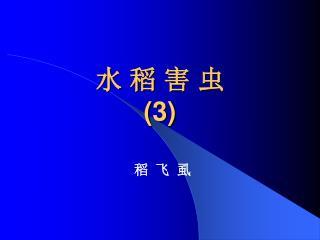 水 稻 害 虫 (3)
