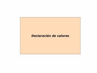 Declaración de valores