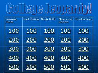 College Jeopardy!