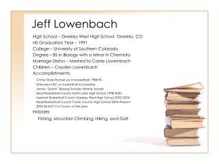 Jeff Lowenbach