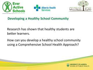 Developing a Healthy School Community