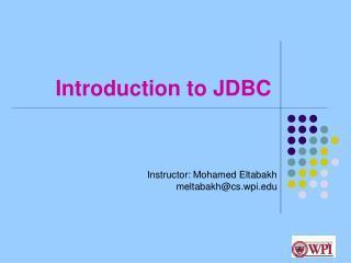 Introduction to JDBC