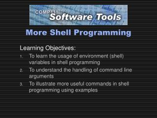 More Shell Programming