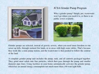 JCSA Grinder Pump Program