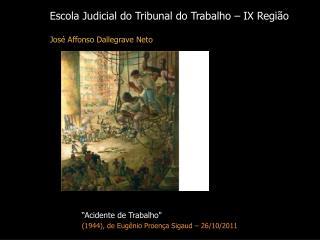 Escola Judicial do Tribunal do Trabalho – IX Região José Affonso Dallegrave Neto